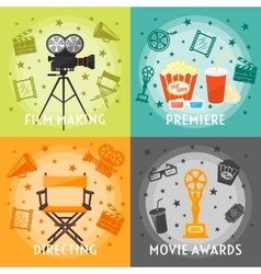 From film making to awards concept vector