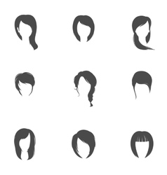 Girl hair style set vector image