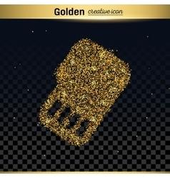 Gold glitter icon vector