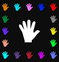 hand icon sign Lots of colorful symbols for your vector image