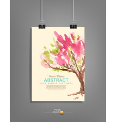 hanging template for graphic design with a painted vector image vector image