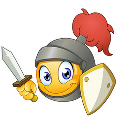 knight emoticon vector image