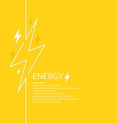 Llightning and electric vector image vector image