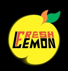 Logo fresh lemon with leaves vector