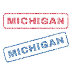 Michigan textile stamps vector