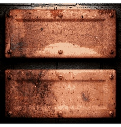 Old metal background vector image vector image