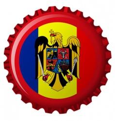Romania bottle cap vector image vector image