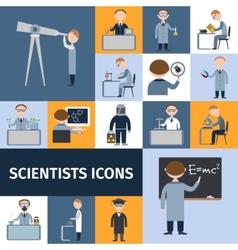 Scientists icon set vector