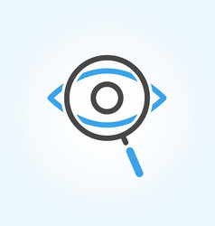 searching eye with magnifying glass vector image