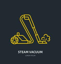 Steam vacuum cleaner flat line icon logo vector