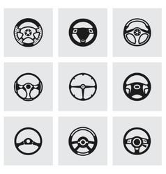 Steering wheels icon set vector