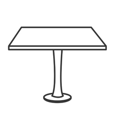 Table desk office icon vector