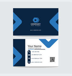 template buisiness card vector image vector image