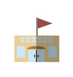 Building school classroom student shadow vector