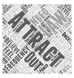 The law of attraction and physics word cloud vector