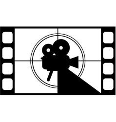 Movie video camera film strip icon vector
