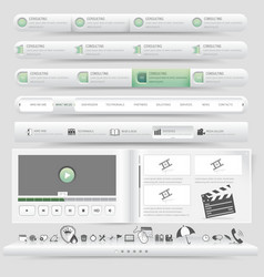 Website navigation vector