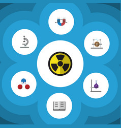 Flat icon study set of attractive force vector
