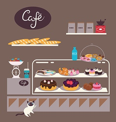 Sweets cafe vector image