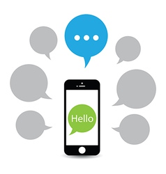 Hello phone vector