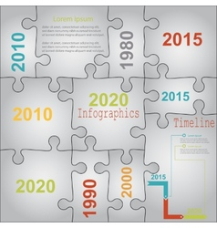 Infographic report templates in puzzle jigsaw vector