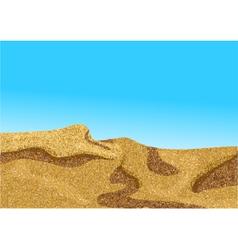 Africa desert coast dune vector