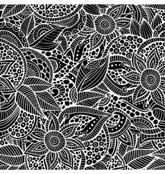 Sketchy doodles decorative floral ornamental vector