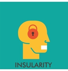 Insularity lock close mouse secretive line vector