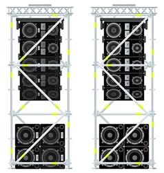 line array concert acoustics scaffold suspension vector image