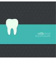 Background with tooth vector