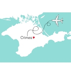 Autonomous republic of crimea postcard design vector