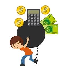 bank bonds design vector image