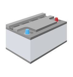 Battery car single icon in cartoon style for vector