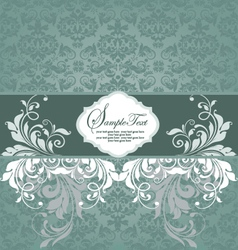Blue wedding card vector