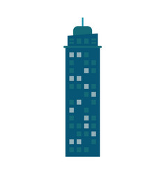 Building urban skyscraper construction vector