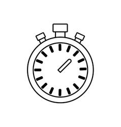 Chronometer time running fitness icon vector