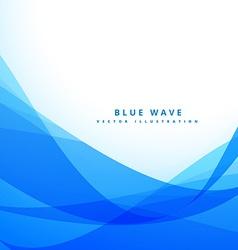clean blue wave background design vector image