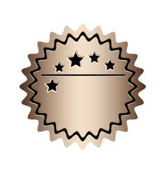 Color stamp with starry border and decorative vector