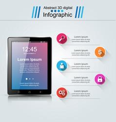 Digital gadget smartphone tablet icon business vector