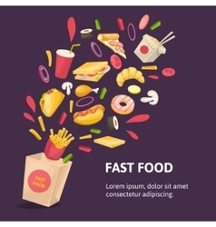 Fast Food Composition vector image