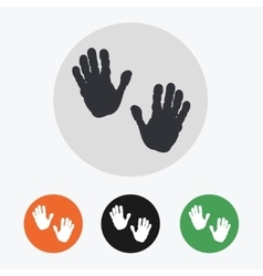 Hand drawn handprints icons set vector image vector image