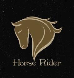 Horse rider logo vector