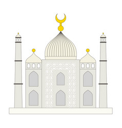 islamic mosque flat cartoon style vector image