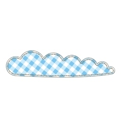 Isolated Patchwork Cloud vector image vector image