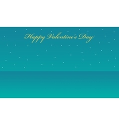 landscape with star valentine backgrounds vector image