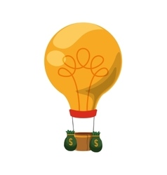 Light bulb start up innovation icon vector
