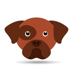 Lovely head puppy dog boxer vector