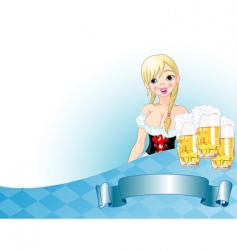 Oktoberfest girl background vector