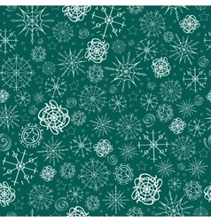 pattern image of snowflakes vector image