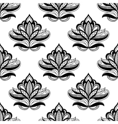 Persian style seamless floral motifs vector